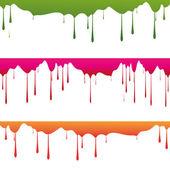 Gouttes de peinture de couleur — Vecteur