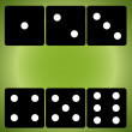 Six black dice on green — Stock Vector #75864085