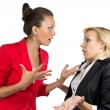 Chief woman yelling at a subordinate — Stock Photo #52778507