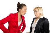 Two conflicted business women in office — Foto de Stock