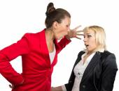 Business lady yelling at subordinate — Foto de Stock