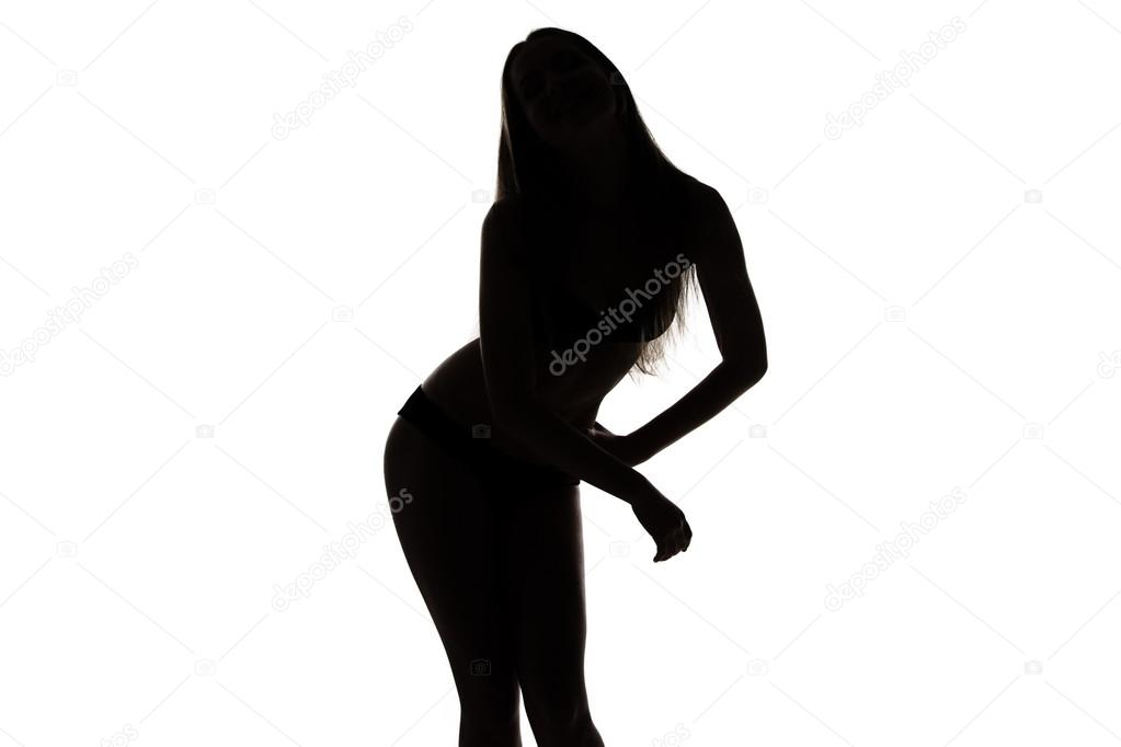 Девушка силуэт бедра фото