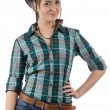 Image of smiling cowgirl — Stock Photo #56428747