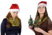 Image of inequity in Christmas day — Stockfoto