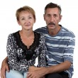 Portrait of the happy old man and woman — Stock Photo #57709327