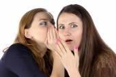 Photo of two gossip girls — Stock Photo