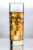 Glass with black tea — Stock Photo