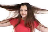 Portrait of funny teenage girl — Stock Photo