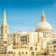 Detail postcard of old town La Valletta - Capital of world famous mediterranean island of Malta - Medieval architecture and urbanistic — Stock Photo #59289533