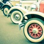 Vintage Car Wheels - Retro classic vehicle — Stock Photo #59636191