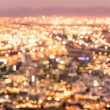 Bokeh of Cape Town skyline from Signal Hill after sunset during the blue hour - South Africa modern city with spectacular nightscape panorama - Warm blurred defocused night lights — Stock Photo #62092837