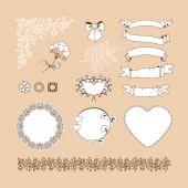 Set van decoratieve elementen — Stockvector