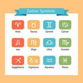 Zodiac icon set — Stock Vector