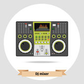 DJ mixer table isolated vector — Stock Vector