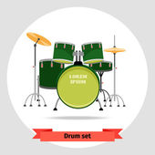 Drum set isolated vector illustration — 图库矢量图片