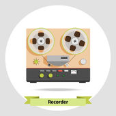 Retro tape recorder — Stock Vector