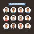 Постер, плакат: Hand drawn people faces vector set Signs of the Zodiac