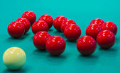 Billiard spheres — Stock Photo