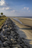Georgia USA Atlantic Coastal Seawall — Stock Photo