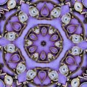 Purple Vintage Watch Kaleidoscope — Stock Photo