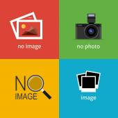 No image signs for web page. — 图库矢量图片