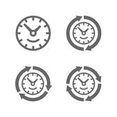 Clocks with arrows as a symbol of run of time — Stock Vector