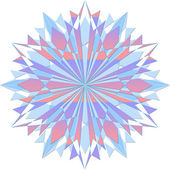 Colored crystal snowflake with sharp edges — Stock Photo