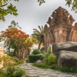 Vietnam, Nha Trang, May 3, 2015, the temple complex Po Nagar Cham. landscape design — Stock Photo #74204135