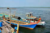 Fishing villages and small fishing boats — Foto de Stock