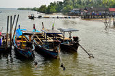 Fishing boats at the island's people — Foto de Stock