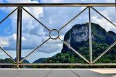 Perspective of the modern steel balcony — Foto de Stock