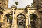 Hadrians Gate in old city of Antalya — Stock Photo