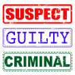 ������, ������: Suspect guilty criminal stamp