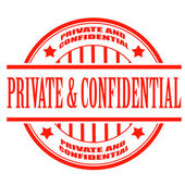 Private and confidential stamp — Stock Vector