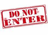 Do not enter stamp  — Stock Vector