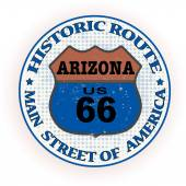 Historic route arizona stamp — Stock Vector
