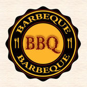 Barbeque stamp — Stock Vector