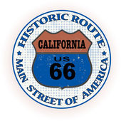 Historic route california stamp — Stock Vector