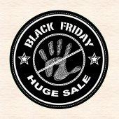 Black fridy huge sale stamp — Vector de stock