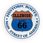 Historic route illinois stamp — Stock Vector