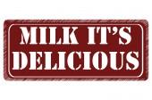 Milk it's delicious — Vector de stock