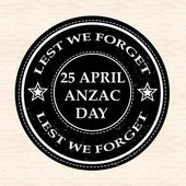 April anzac day stamp — Stock Vector