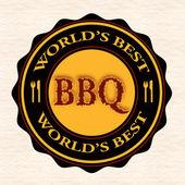 World's best bbq  — Vector de stock