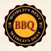 World's best bbq  — Stockvektor