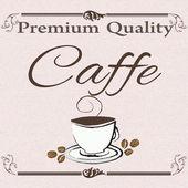 Premium quality caffe  — Vector de stock