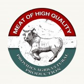 Meat of high quality stamp — Stockvector