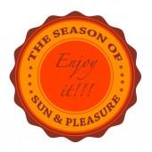 The season of sun pleasure — Vector de stock