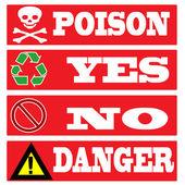 Poison , yes, no , danger — ストックベクタ