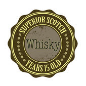 Superior scotch whisky — Stock Vector
