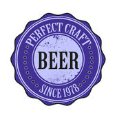 Perfect craft beer — Stock Vector
